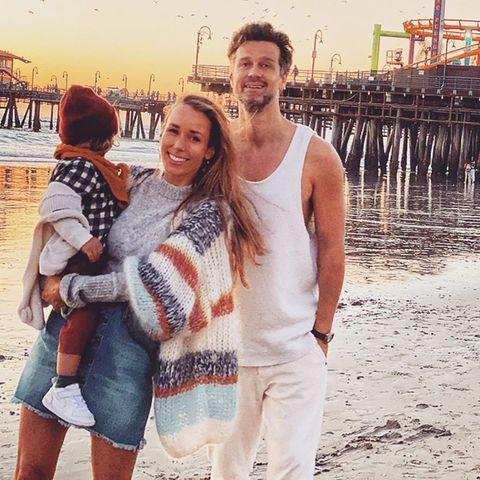 Annemarie und Wayne Carpendale mit Sohn Mads