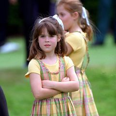 Was für ein süßer Schnappschuss: Hier ist Prinzessin Eugenie gerade einmal acht Jahre alt.