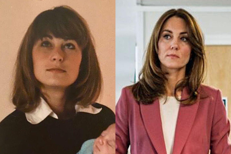 Carole Middleton (links, 1982) und Herzogin Catherine (rechts, 2020) sehen aus wie Zwillinge.