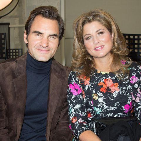 Roger Federer und seine Ehefrau Mirka