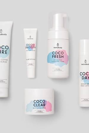 Inhalt des Coco Daily Face Set von Hello Body