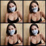 """Lena Meyer-Landrut ruft eindringlich dazu auf, Masken zu tragen: """"Die professionellen medizinischen Masken sind momentan knapp und wir wollen sie dem medizinischen Personal auf keinen Fall wegnehmen! Aber du kannst dir eine wirkungsvolle Maske zu Hause selber basteln. Aus alten T-Shirts, Küchenhandtüchern, Küchenpapier oder sogar Staubsaugerbeuteln. Echt, kein Witz! Maske auf!"""" schreibt sie auf Instagram."""
