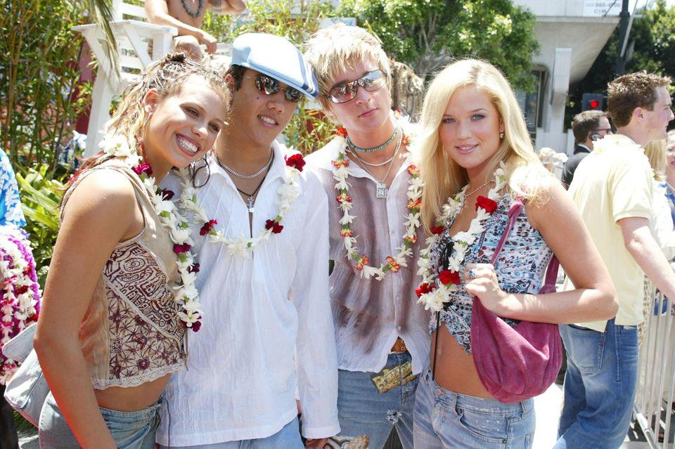 Die schwedische Popgruppe A*TeensSara Lumholdt, Amit Sebastian Paul, John Dhani Lennevald undMarie Serneholt