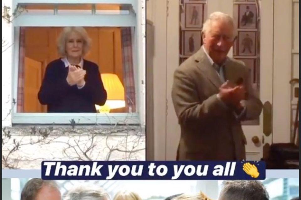 Herzogin Camilla und Prinz Charles bedanken sich via Instagram