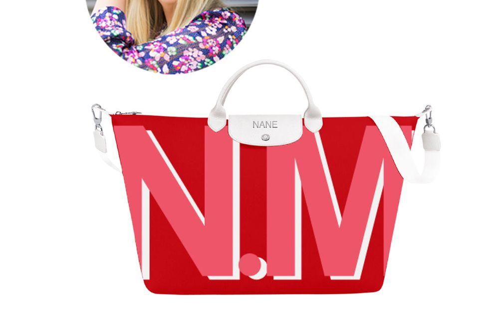 Perfekt ausgestattet für jede Reise: Mode-Leitung Nane kann ihr Gepäck garantiert nicht verlieren.