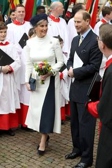 9. März 2020  Beim Gottesdienst anlässlich des Commonwealth Days zeigen sich Gräfin Sophie und Prinz Edward in bester Laune.