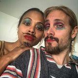 Zoe Saldana und ihr Mann Marco Perego probieren neue Make-up-Varianten aus