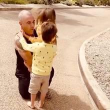 Robbie Williams und die Kids