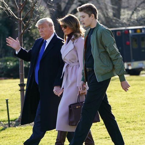 Donald Trump mit Frau Melania und Sohn Barron