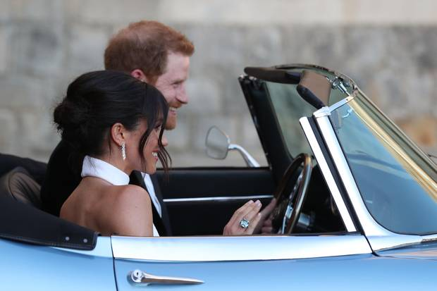 Herzogin Meghan an ihrem Hochzeitstag. Den locker hochgesteckten Dutt verdankt sie George Northwood.
