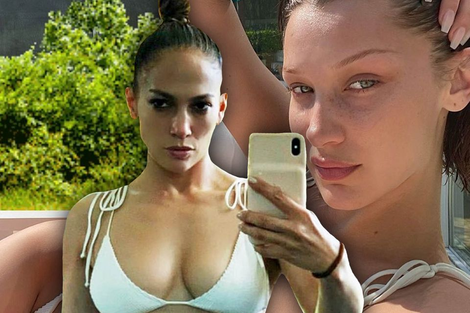 Jennifer Lopez, Bella Hadid