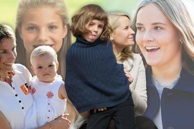 Royale Kids damals und heute: So groß sind die Königskinder schon geworden.