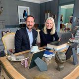 Haakon und Mette-Marit richten zu Hause ihr Homeoffice ein