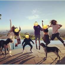 Heidi Klum mit ihren Kindern und Tom Kaulitz