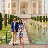 Für alle Indien-Reisenden ist die monumentale Grabstätte Taj Mahal in Agra ein absolutes Muss. So auch für Kate und William während ihres offiziellen Indien-Besuchs im April 2016.