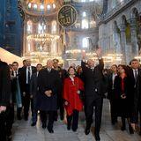 König Harald und Königin Sonja von Norwegen konnten sich an der Pracht der Hagia Sophia in Istanbul im November 2013 kaum sattsehen.