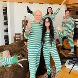 Bruce Willis und Demi Moore mit Kindern im Streifenlook