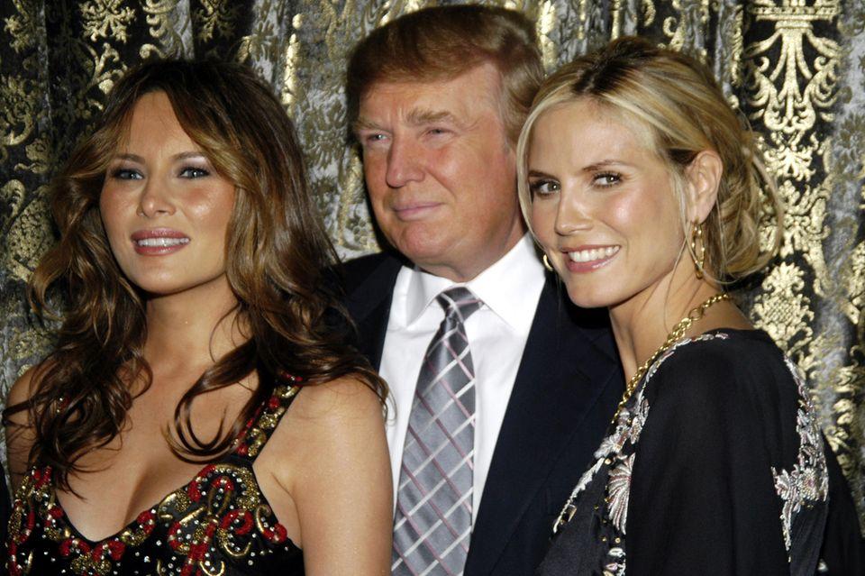 Heidi Klum mit Melania und Donald Trump