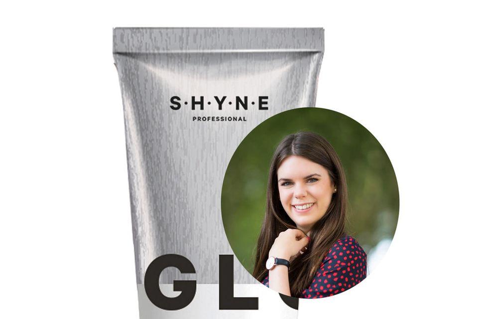 """Online-Redakteurin Jessica bringt ihre Haare mit der Nuance """"Smokey Brown"""" von Shyne zum Leuchten."""