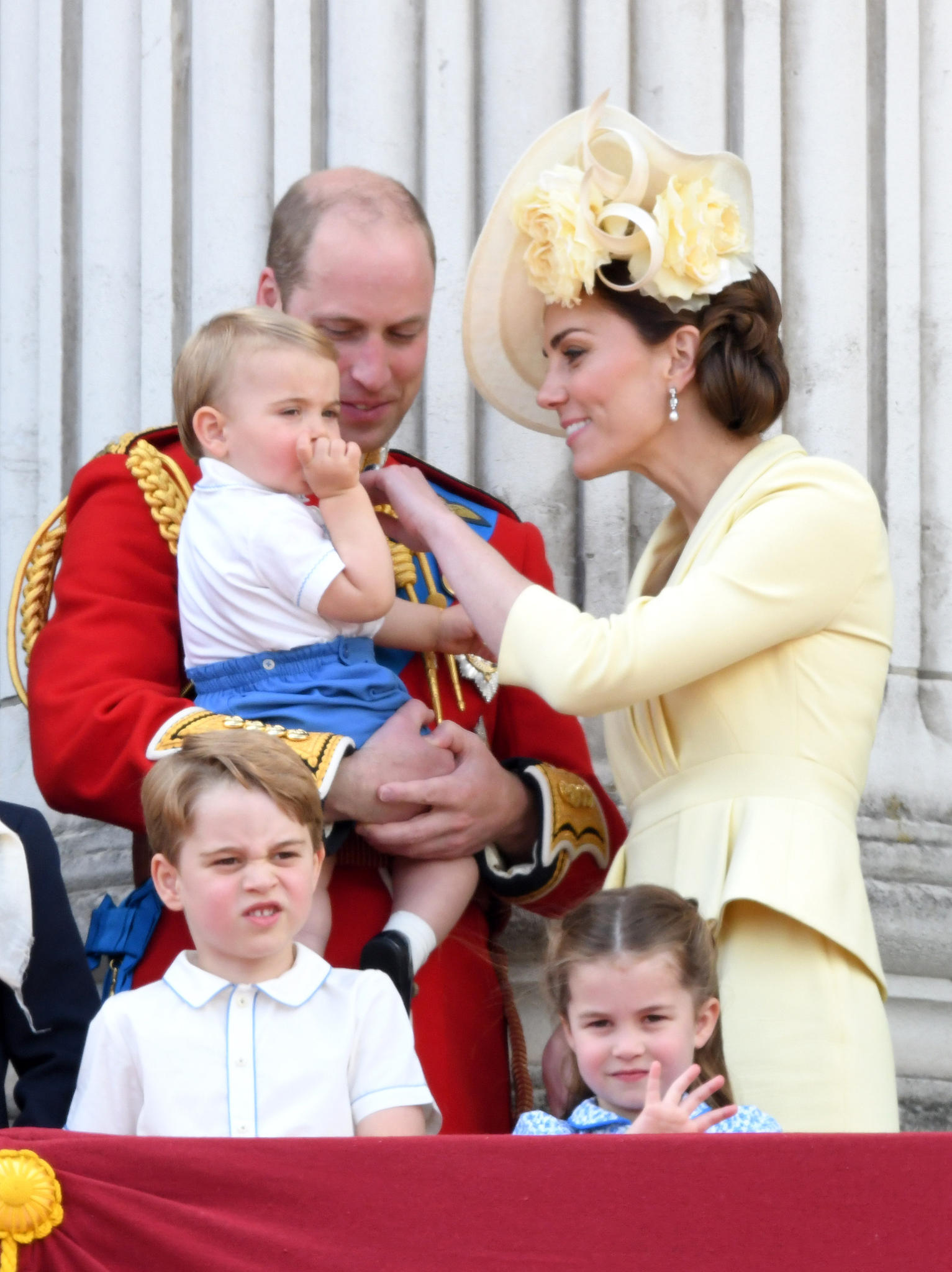 Prinz Louis, Prinz William, Herzogin Catherine, Prinz George, Prinzessin Charlotte