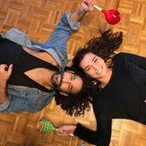 Platt vom Training: Aber Massimo Sinato und Lili Paul-Roncalli freuen sich darüber, weiterhin das Tanzbein schwingen dürfen. Mit diesem Bild,auf dem sie übergroße Lutscher halten, bedankt sich Team Lolly Pop bei den Zuschauern.