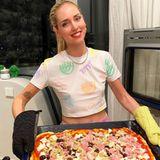 Pizza für alle! Chiara Ferragni weiß, wie sie ihre Familie in dieser schwierigen Zeit glücklich machen kann.