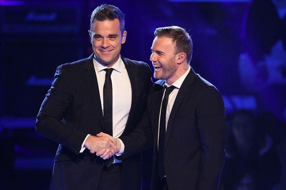 Robbie Williams und Gary Barlow