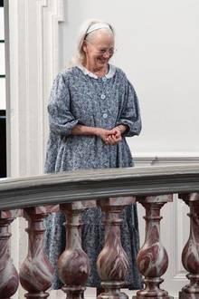 Königin Margrethe an ihrem 80. Geburtstag im Morgengewand