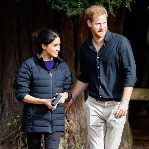 Herzogin Meghan und Prinz Harry haben in Los Angeles Essen ausgeliefert und waren dabei ähnlich leger unterwegs wie auf diesem Foto aus Oktober 2018.