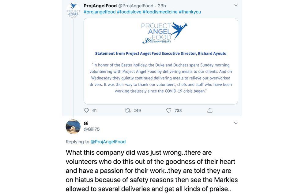 Beschwerde gegen Angel Food Project auf Twitter
