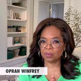 Fernseh-Ikone Oprah Winfrey unterstützt die Aktion und bittet um Spenden für die Frontline-Gesundheitshelfer.