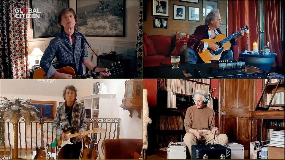 Auch die legendären Rolling Stones nehmen an der weltweiten Aktion teil.