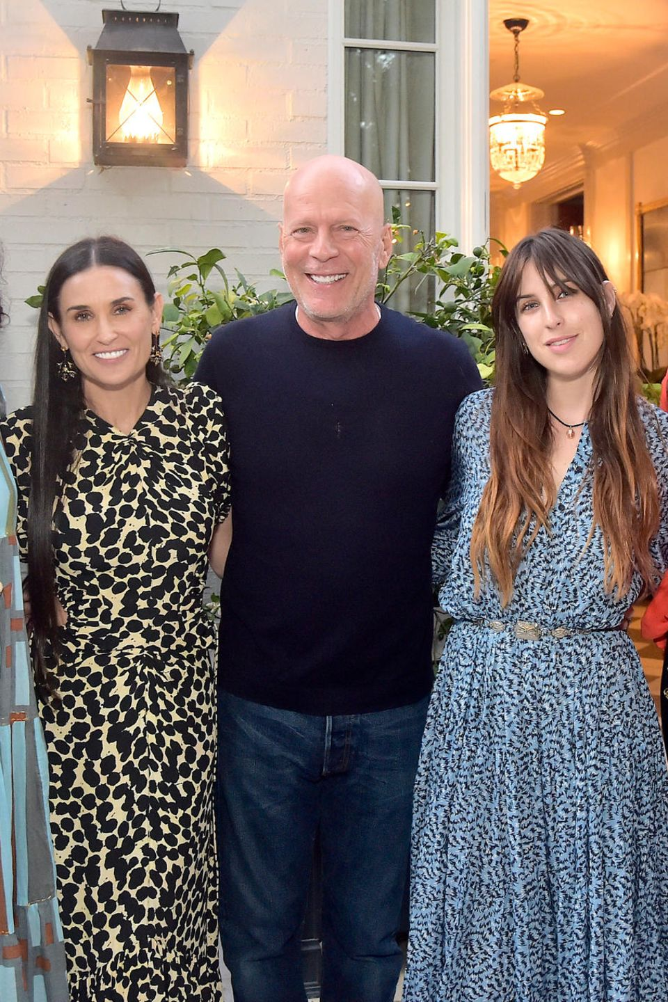 Rumer Willis, Demi Moore, Bruce Willis, Scout Willis, Emma Heming und Tallulah Willis