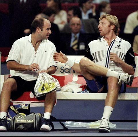 Andre Agassi und Boris Becker
