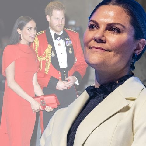 Herzogin Meghan, Prinz Harry und PrinzessinVictoria