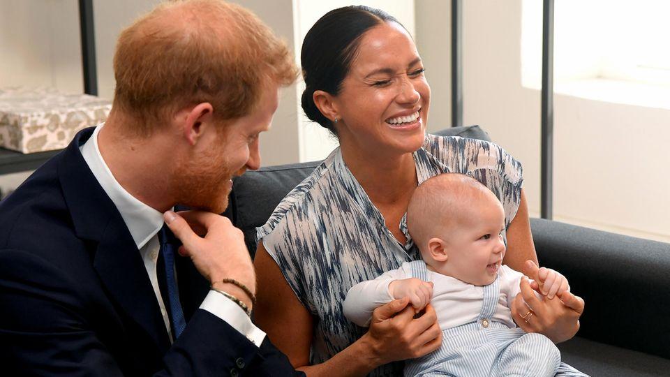 Prinz Harry, Herzogin Meghan mit Sohn Archie