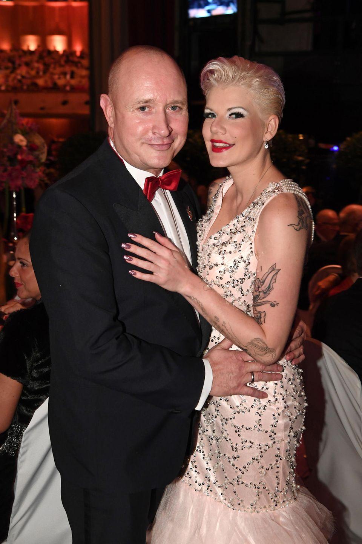 Melanie Müller mit ihrem Mann Mike Blümer