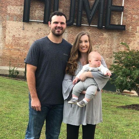 Blake Bivens mit seiner verstorbenen Frau Emily und Sohn Cullen