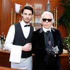BaptisteGiabiconi und Karl Lagerfeld
