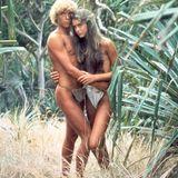 """Christopher Atkins und Brooke Shields in dem Film """"Die blaue Lagune"""" aus dem Jahr 1980 als Richard und Emmeline Lestrange. Die damals 14-Jährige und der 19-Jährige wurden durch den Film weltberühmt."""