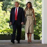 Melania Trump trägt Dior-Kleid am nationalen Gebetstag