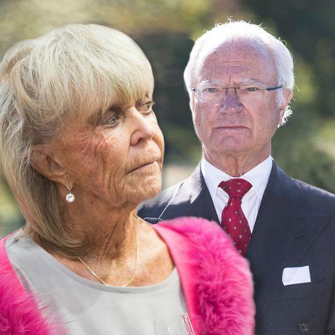Prinzessin Birgitta und ihr Bruder König Carl Gustaf von Schweden.