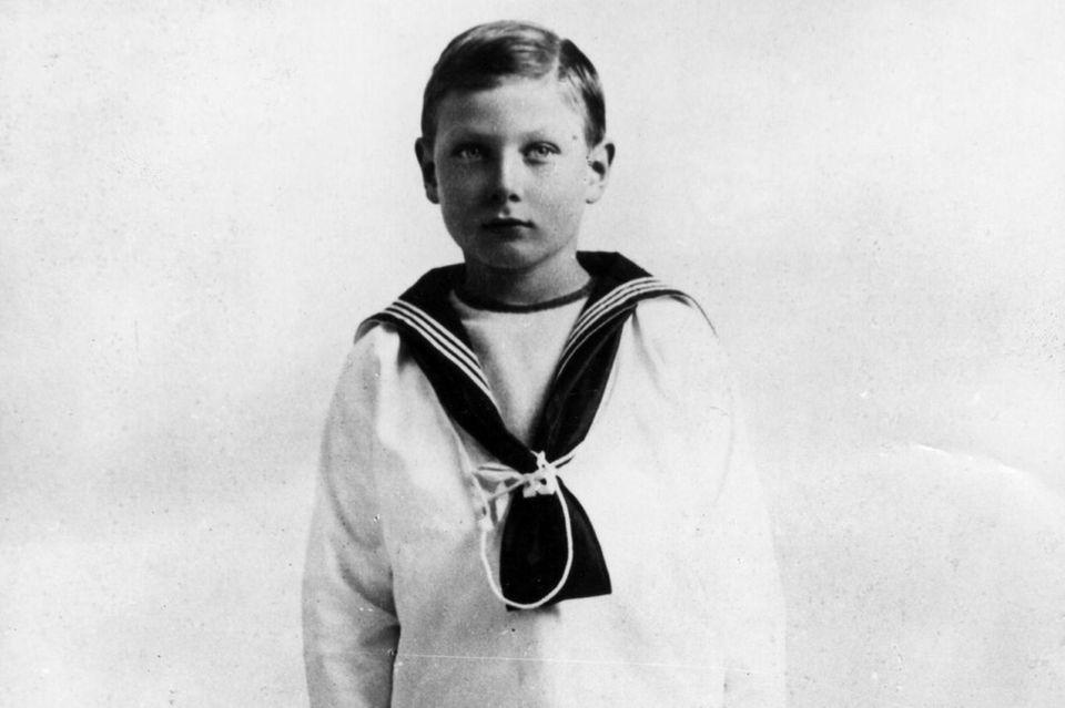 Prinz John im Alter von etwa acht Jahren.