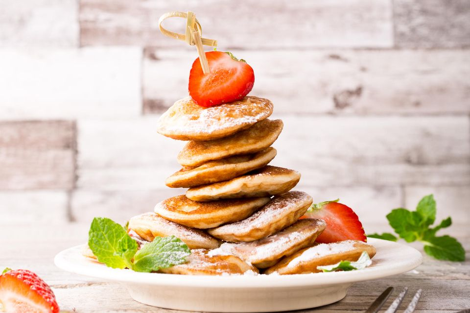 Pancakes mit Erdbeeren