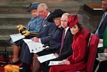 Queen Elizabeth, Prinz Charles, Herzogin Camilla, Prinz William und Herzogin Catherine