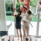 4. Mai 2020  Kurz vor der Geburt ihrer kleinen Schwester feiert Klara mit ihren Eltern Anna und Robert Lewandowski ihren dritten Geburtstag.