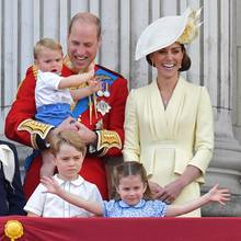 Prinz William, Prinz Louis, Prinz George, Prinzessin Charlotte, Herzogin Catherine