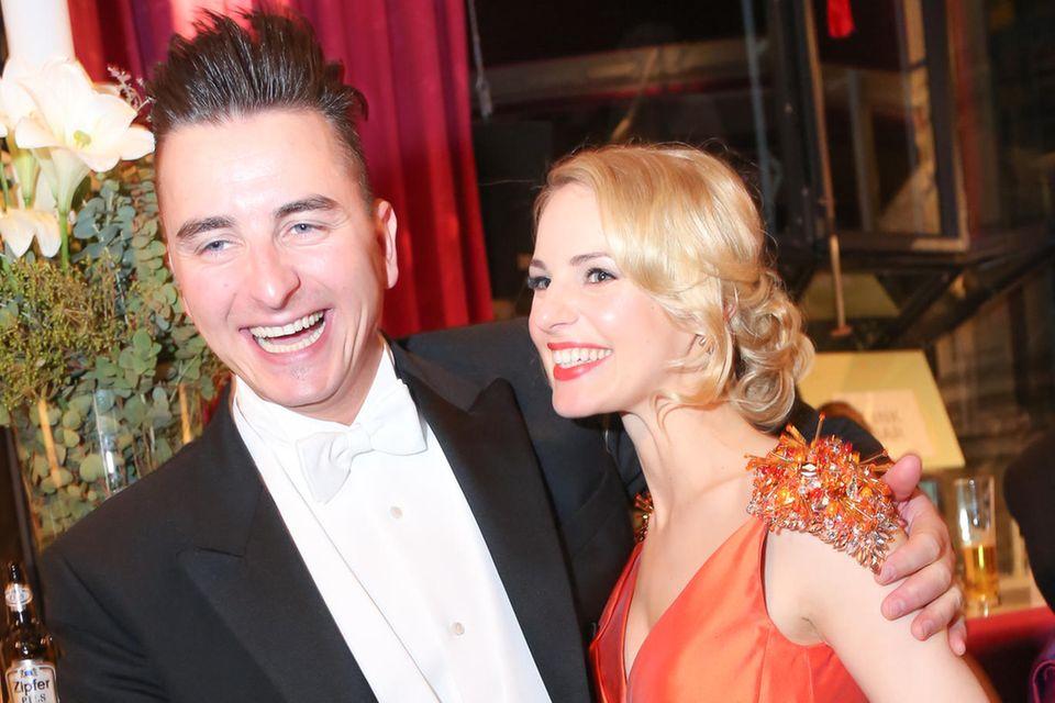 Andreas Gabalier und Silvia Schneider beim Wiener Opernball im Jahr 2015