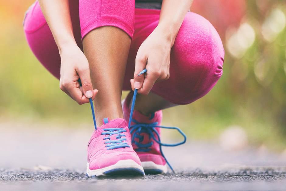 Durch Joggen kann man gut abnehmen.