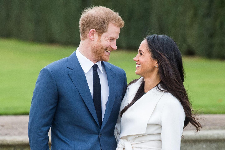 Prinz Harry + Herzogin Meghan bei der Bekanntgabe ihrer Verlobung